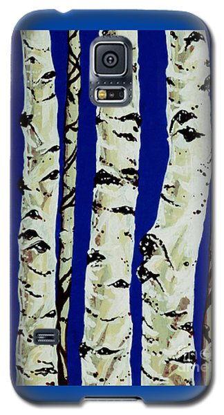 Galaxy S5 Case featuring the painting Sleeping Giants by Jackie Carpenter