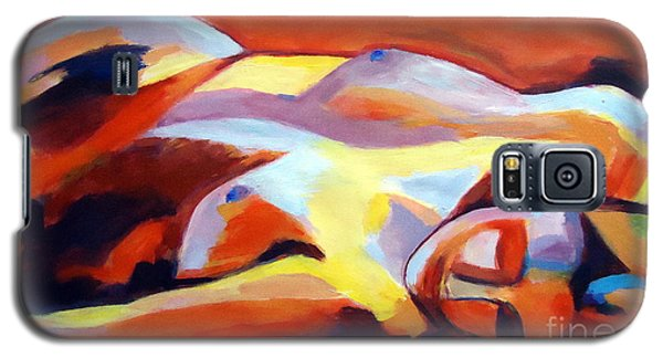 Galaxy S5 Case featuring the painting Sleeping Lady by Helena Wierzbicki