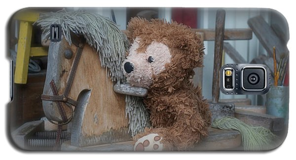 Galaxy S5 Case featuring the photograph Sleepy Cowboy Bear by Thomas Woolworth