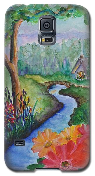 Sleepy Forest Cottage Galaxy S5 Case
