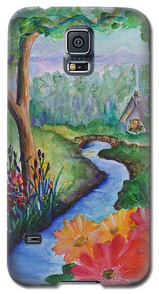 Sleepy Forest Cottage Galaxy S5 Case