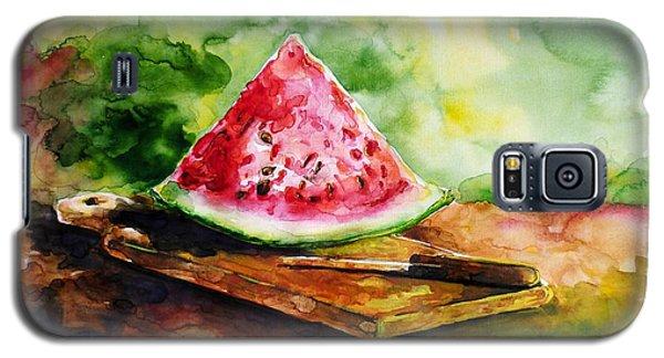 Sliced Watermelon Galaxy S5 Case by Zaira Dzhaubaeva