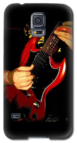 Red Gibson Guitar Galaxy S5 Case