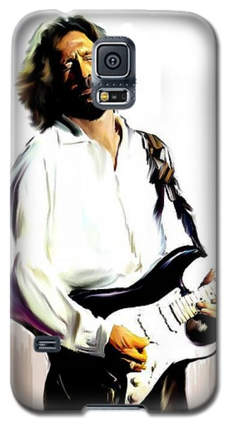 Slow Hand  Eric Clapton Galaxy S5 Case by Iconic Images Art Gallery David Pucciarelli