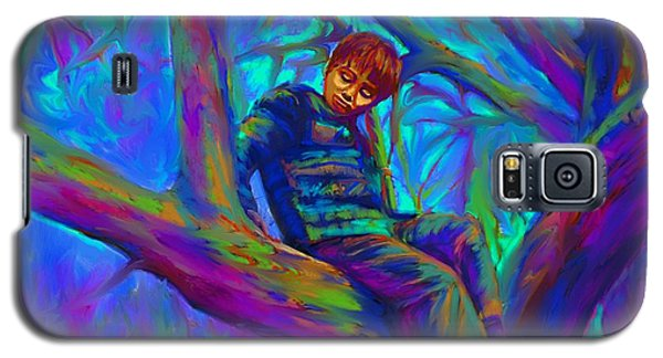 Small Boy In Large Tree Galaxy S5 Case