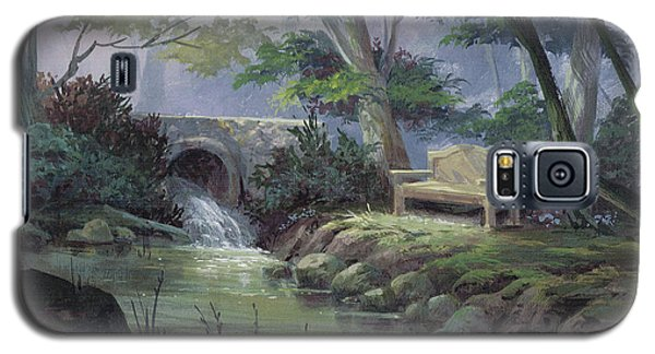 Galaxy S5 Case featuring the painting Small Falls Descanso by Michael Humphries
