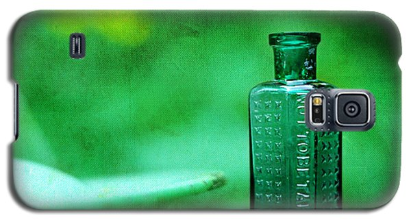 Small Green Poison Bottle Galaxy S5 Case by Rebecca Sherman