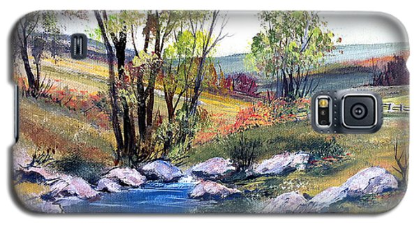 Galaxy S5 Case featuring the painting Small Pond by Dorothy Maier