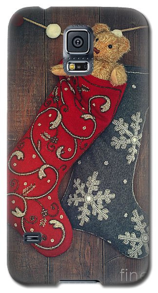 Small Teddy Bear In Stocking For Christmas Galaxy S5 Case