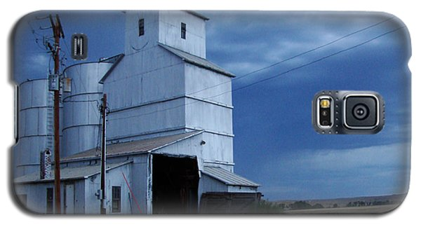 Galaxy S5 Case featuring the photograph Small Town Hot Night Big Storm by Cathy Anderson