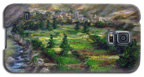 Village In The Mountain  Galaxy S5 Case by Laila Awad Jamaleldin