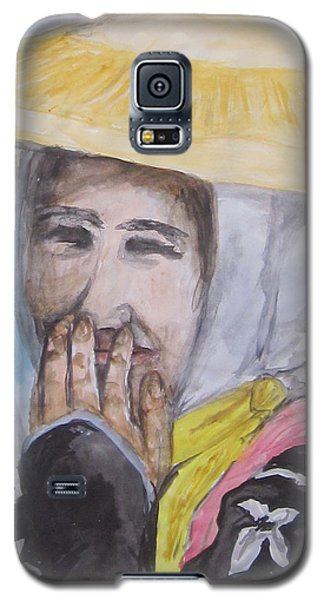 Galaxy S5 Case featuring the painting Smile by Cheryl Pettigrew