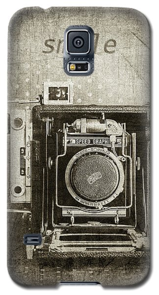 Smile For The Camera - Sepia Galaxy S5 Case