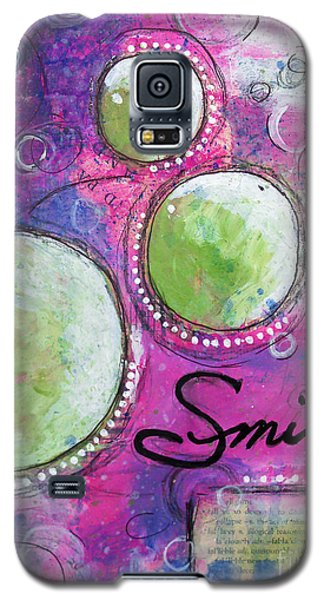 Galaxy S5 Case featuring the painting Smile by Melissa Sherbon