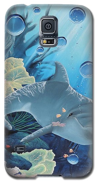 Galaxy S5 Case featuring the painting Smiley by Dianna Lewis