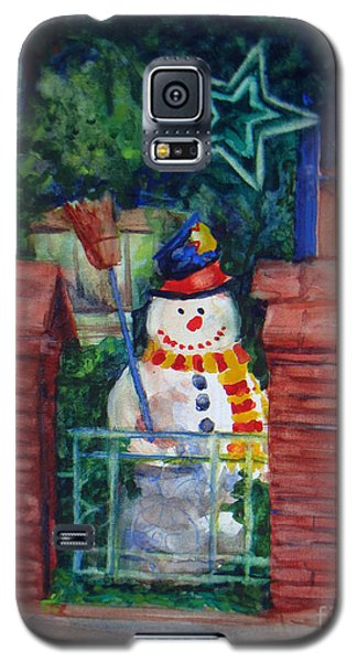 Smiling Snowman 1 Galaxy S5 Case