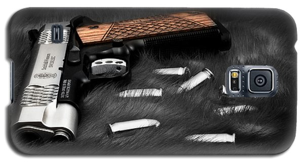 Smith And Wesson 1911sc Still Life Galaxy S5 Case by Tom Mc Nemar