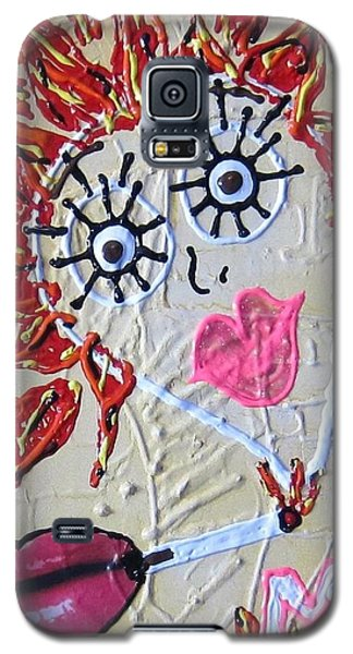 Galaxy S5 Case featuring the painting Smoke Me Now by Lisa Piper