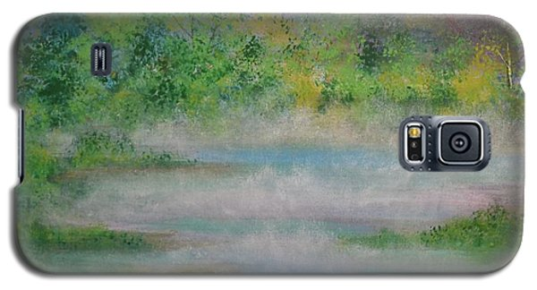 Galaxy S5 Case featuring the painting Smoke On The Water by Denise Tomasura