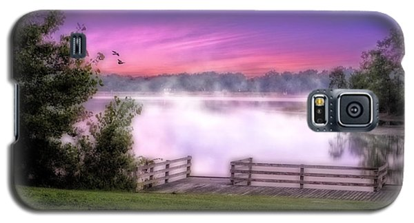 Galaxy S5 Case featuring the photograph Smoke On The Water by Mary Timman