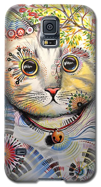 Smokey ... Abstract Cat Art Galaxy S5 Case