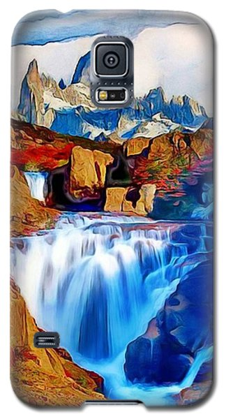 Galaxy S5 Case featuring the painting Smokey Mountain View by Catherine Lott