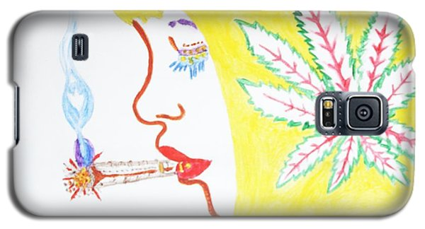 Smoking Blonde Galaxy S5 Case by Stormm Bradshaw