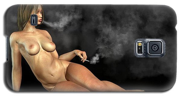 Smoking Nude Galaxy S5 Case