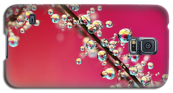 Galaxy S5 Case featuring the photograph Smoking Pink Drops II by Sharon Johnstone