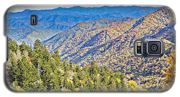 Smoky Mountain Autumn Vista Galaxy S5 Case