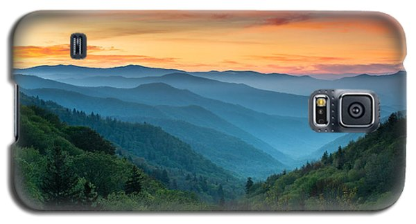 Sunset Galaxy S5 Case - Smoky Mountains Sunrise - Great Smoky Mountains National Park by Dave Allen