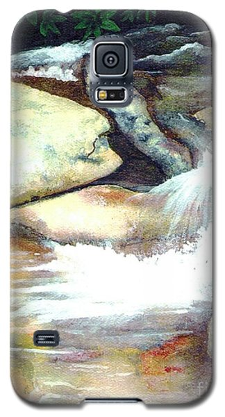 Galaxy S5 Case featuring the painting Smoky Mountains Waterfall by Patricia Griffin Brett