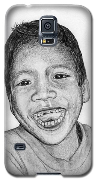 Galaxy S5 Case featuring the drawing Snaggle-tooth by Lew Davis