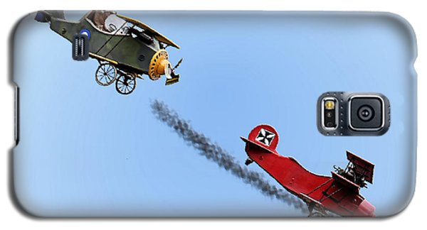 Snoopy And The Red Baron Galaxy S5 Case by Kristin Elmquist