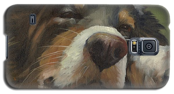 Galaxy S5 Case featuring the painting Snoozing by Alecia Underhill