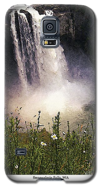 Galaxy S5 Case featuring the photograph Snoqualmie Falls Wa. by Kenneth De Tore