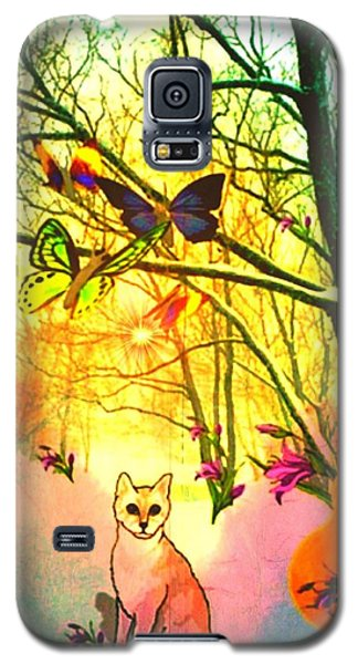 Snow And Butterfly Dreams Galaxy S5 Case