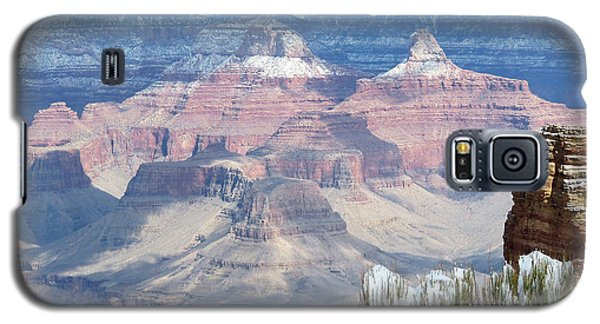 Snow At The Grand Canyon Galaxy S5 Case by Laurel Powell