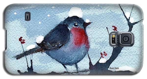 Galaxy S5 Case featuring the painting Snow Bird From Needles by Anne Duke