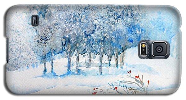 Snow Blizzard In The Grove  Galaxy S5 Case