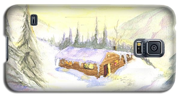 Snow Cabin Welcome Galaxy S5 Case by Sherril Porter