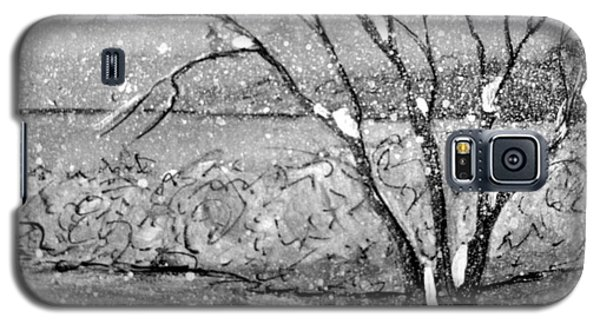 Galaxy S5 Case featuring the painting Snow Capped Tree by Gretchen Allen