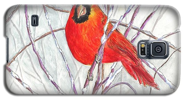 Snow Cardinal Galaxy S5 Case