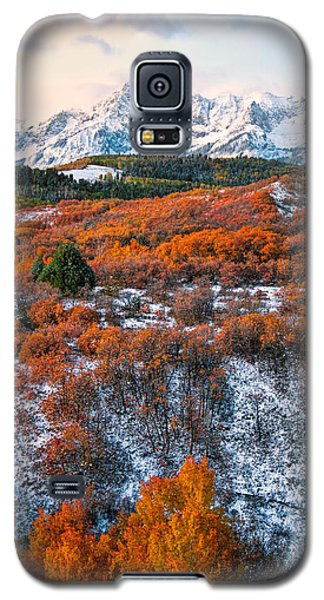 Snow Covered Autumn Galaxy S5 Case