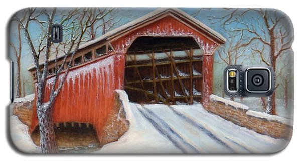 Snow Covered Bridge Galaxy S5 Case