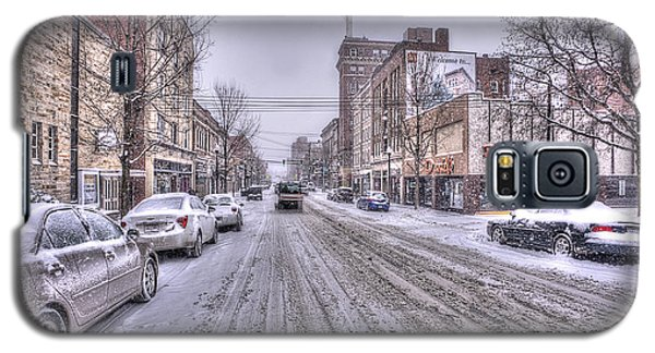 Snow Covered High Street And Cars In Morgantown Galaxy S5 Case