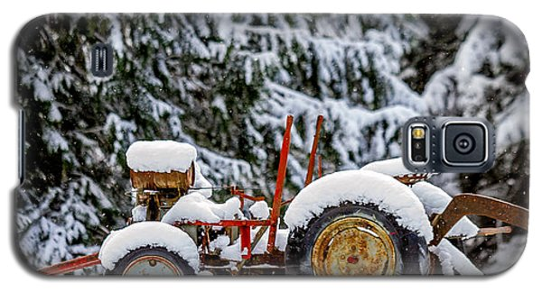 Snow Covered Tractor Galaxy S5 Case