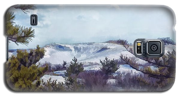 Galaxy S5 Case featuring the photograph Snow Covered Dunes by Constantine Gregory