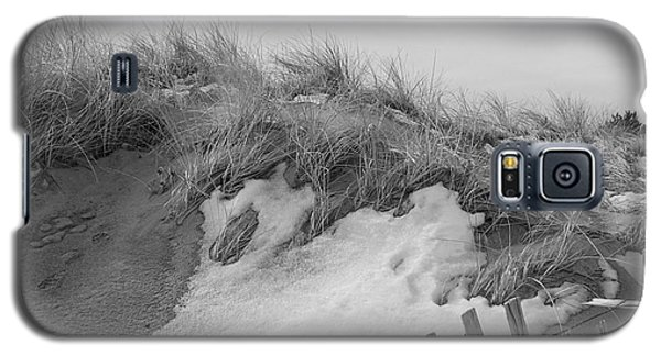 Galaxy S5 Case featuring the photograph Snow Covered Sand Dunes by Eunice Miller