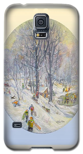 Galaxy S5 Case featuring the painting Snow Day by Donna Tucker
